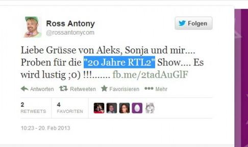 Big Brother 12 - Ross Antony - Twitter