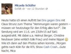 Micaela Schäfer Facebook
