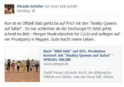 Facebook - Micaela Schäfer