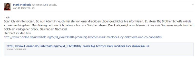 Promi Big Brother: Mark Medlock