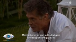 Promi Big Brother 2013: David Hasselhoff um seinen Vater besorgt