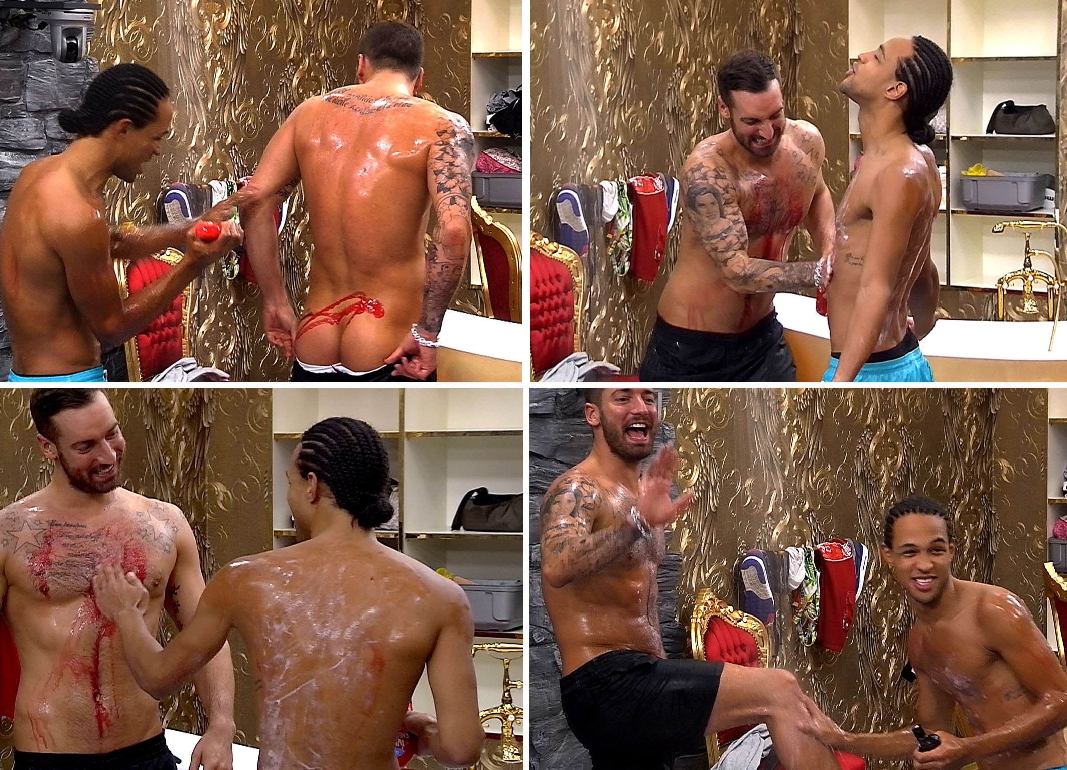 Promi Big Brother 2013 Simon Desue Jan Leyk sexy unter der Dusche