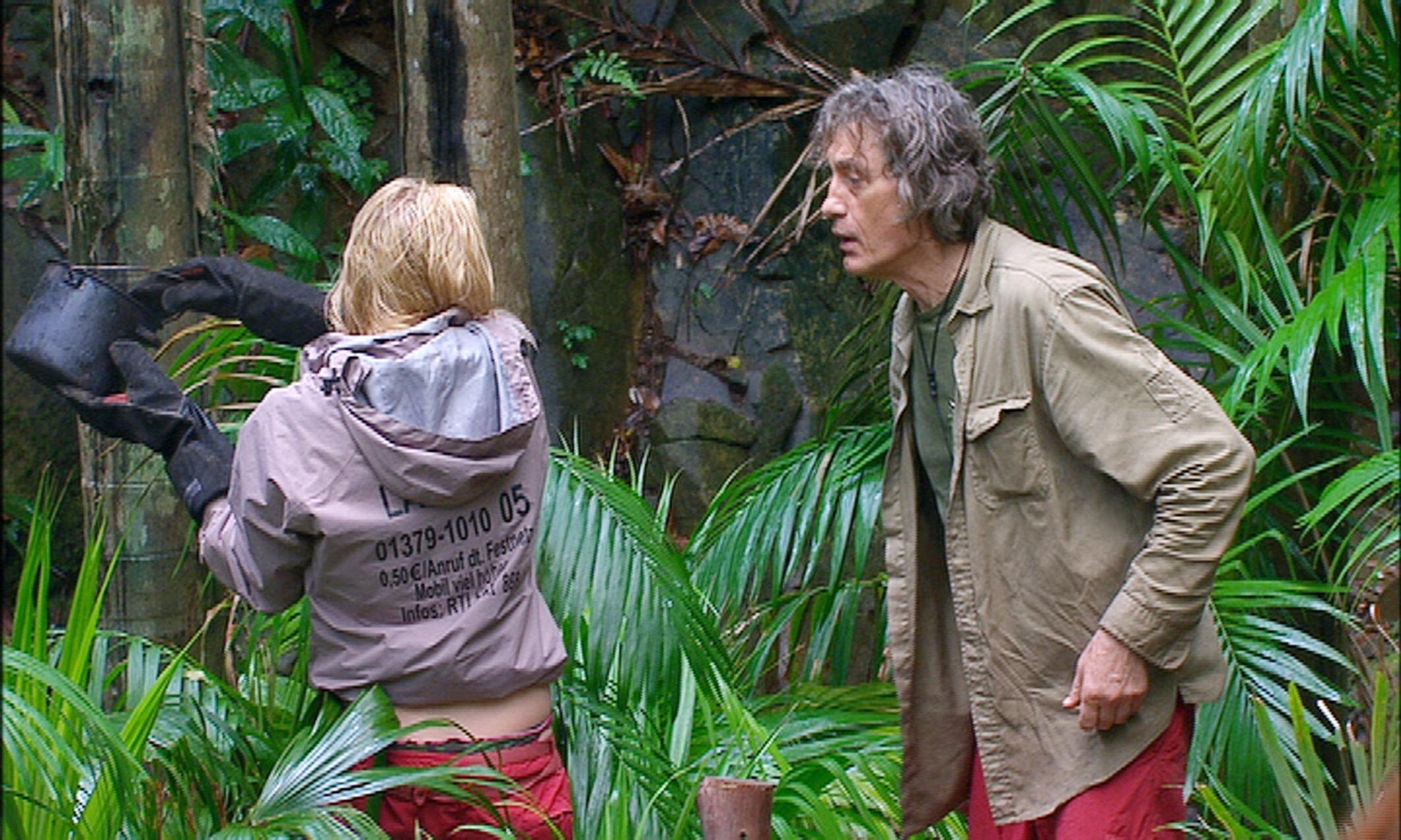 Dschungelcamp - Melanie und Winfried streiten