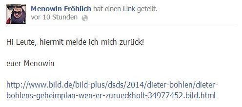 DSDS: Menowin Fröhlich