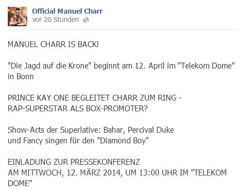 Manuel Charr - Facebook