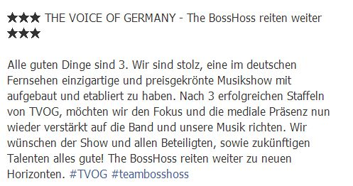 The Voice of Germany: The BossHoss steigen aus