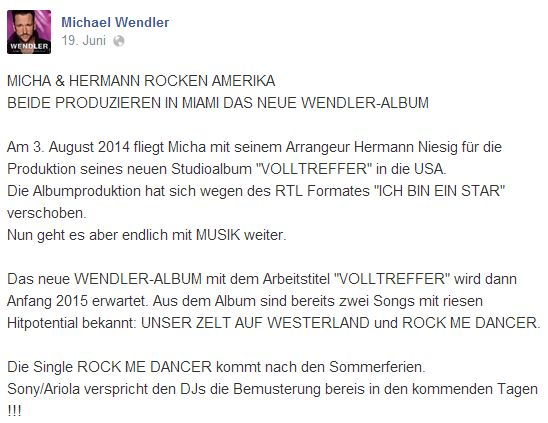Promi Big Brother 2014 - Michael Wendler 1