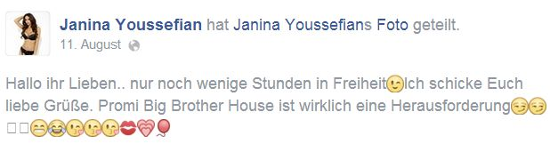 Promi Big Brother: Janina Youssefian