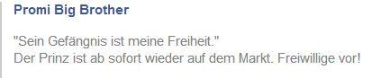 Promi Big Brother - Mario Max Prinz zu Schaumburg Lippe - FB