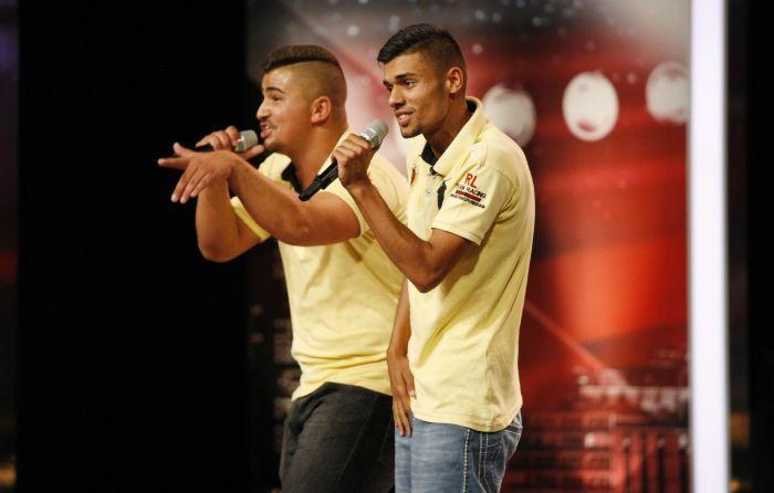 Das Supertalent -Dennis Anton und Santano Schuller, Rapper aus Braunschweig.