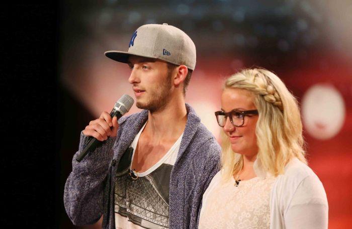 Das Supertalent - Siebte Show - Kim Wiesweg und Nils Mechlinski - Sänger aus Dorsten-Rhade.