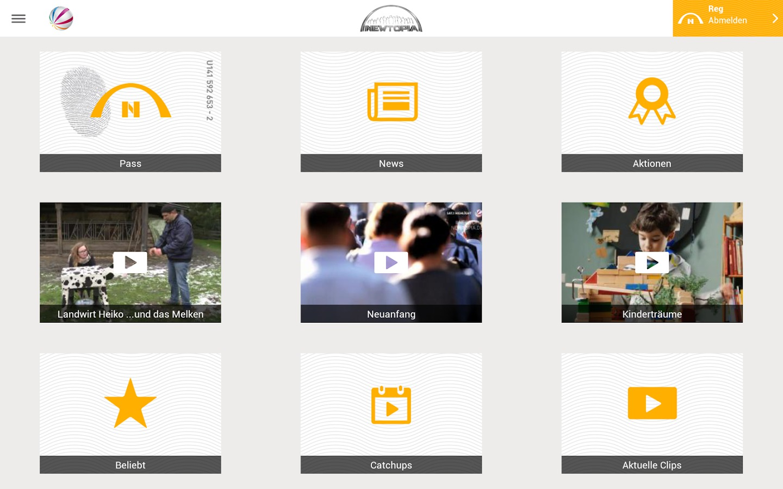Newtopia App iPad Tablet Version Windows Phone Android