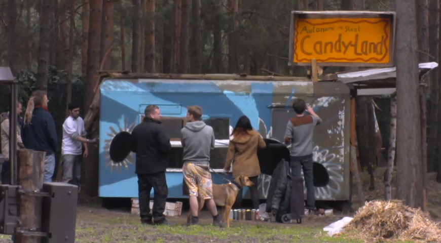Newtopia Candy Bauwagen Sprayer Kreativ Tag Entdeckungsreise Verschönerung