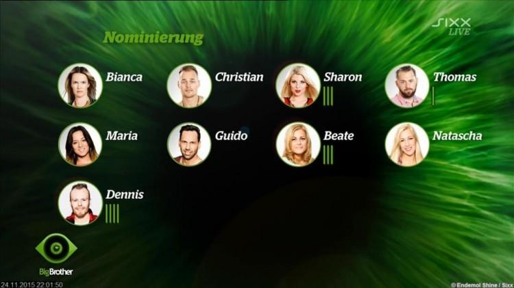 Big Brother Nominierung 24.11.2015