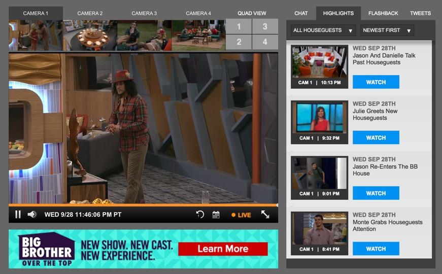 Big Brother USA Live-Stream