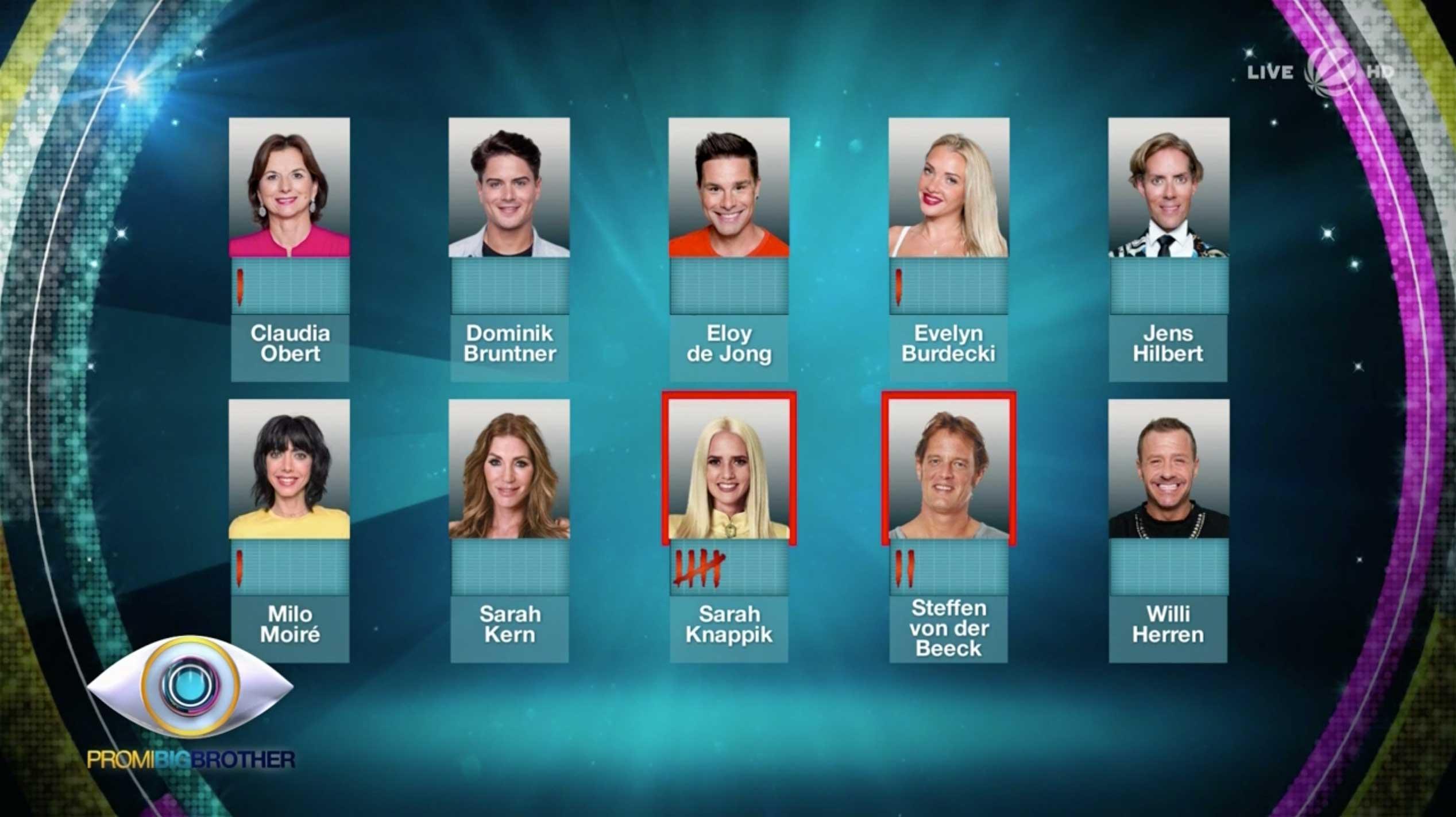Promi Big Brother Nominierung 19.08.2017