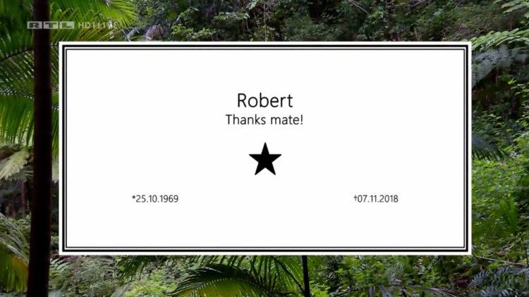Dschungelcamp 2019 Todesanzeige