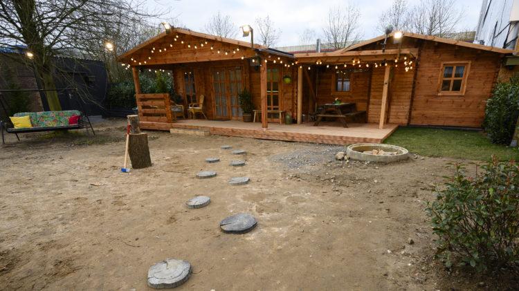 Blockhaus Garten Sand Big Brother 2020 Sat1