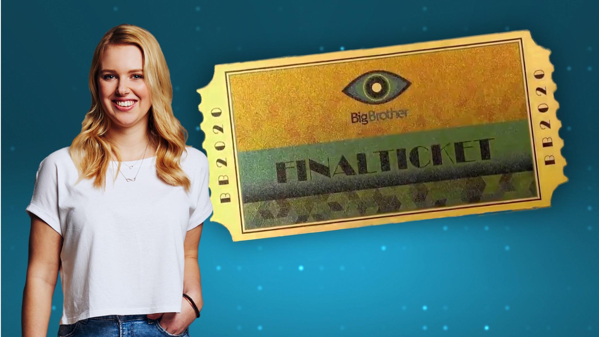 Big Brother 2020 Goldene Finalticket Rebecca